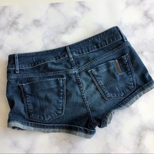 Black Orchid Black Star Denim Mini Shorts